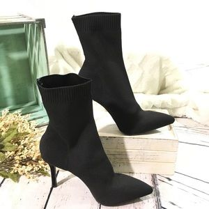 Forever 21 sexy stiletto sock boots nwt